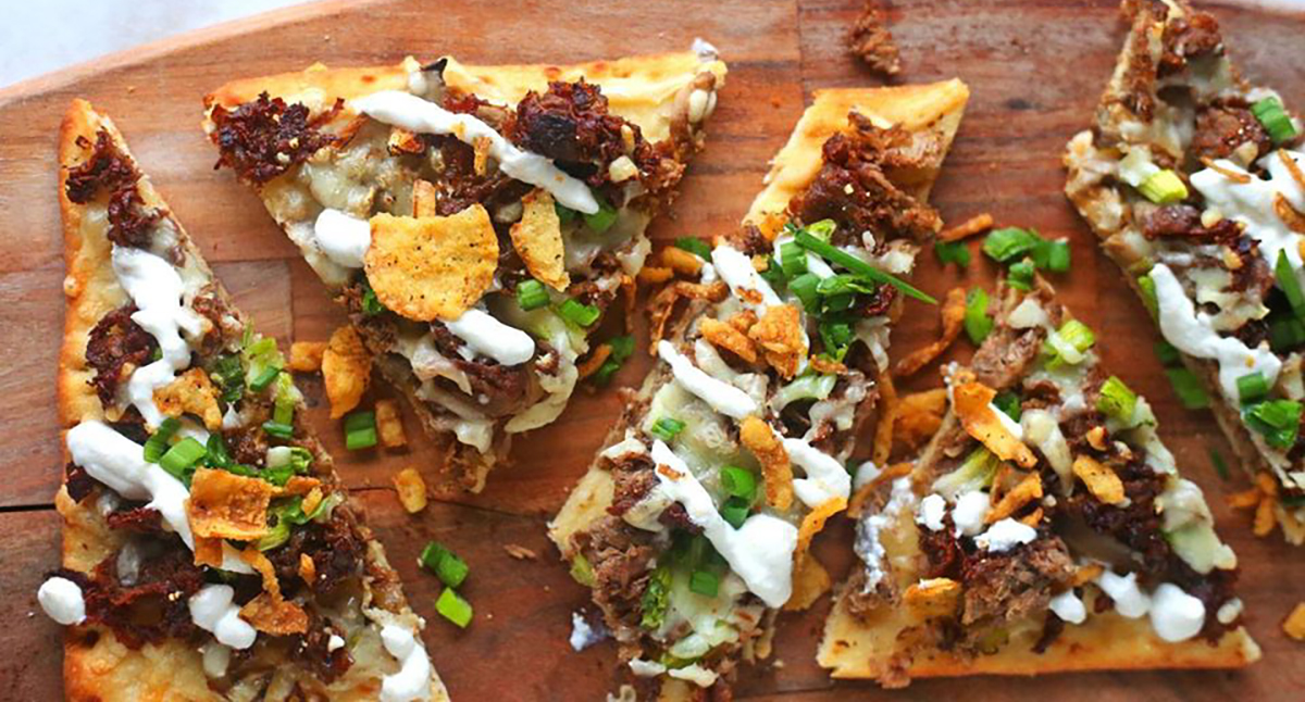 Steak & Mushroom Flatbread Pizza