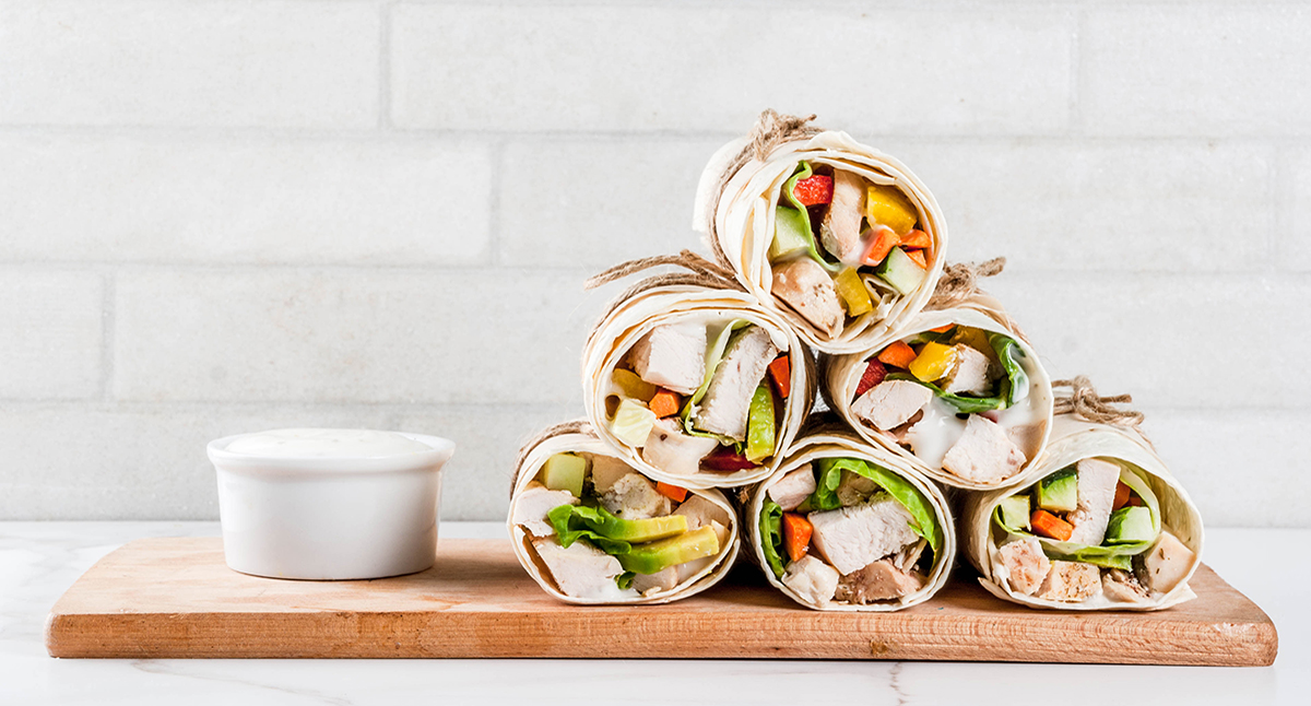 Chicken and Veggie Wraps with Chipotle Ranch