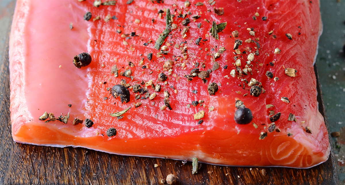 Beet Horseradish Cured Salmon